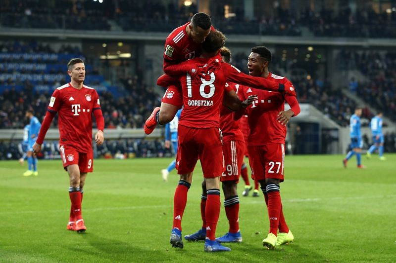 Bayern finished the first 45 minutes with a two-goal lead.