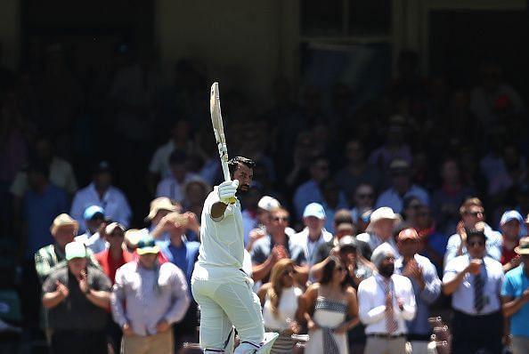 Pujara after scoring 193 in Sydney