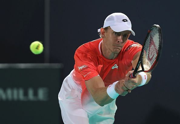 Anderson defeated Karlovic after being down 2-5 in the final set tiebreak