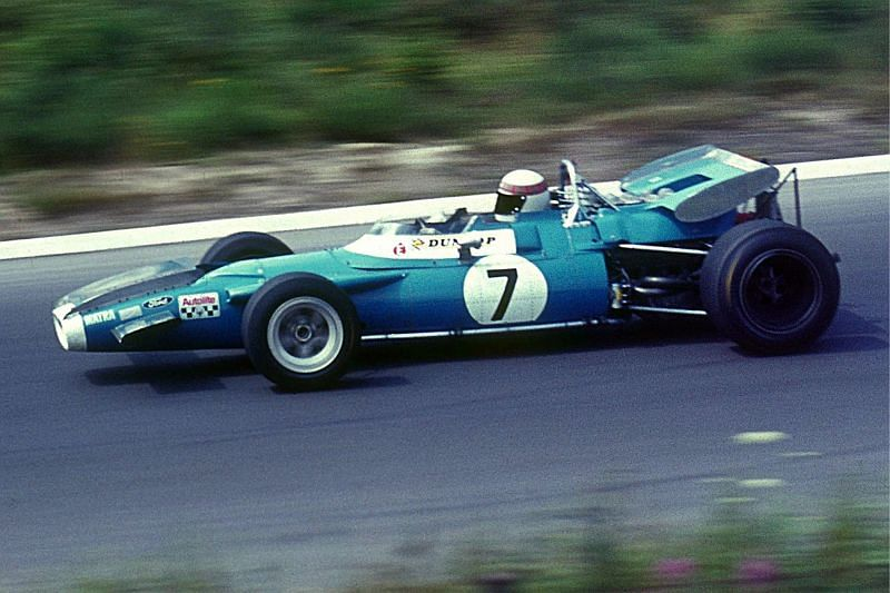 Sir Jackie Stewart driving the Matra-Ford in 1969