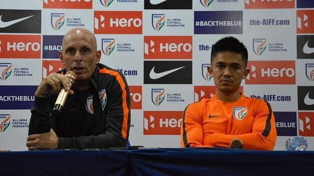 There were rumours of a rift between Stephen Constantine and captain Sunil Chhetrilast year.