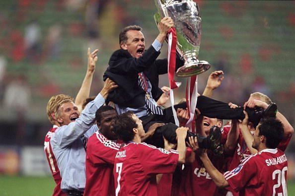 Ottmar Hitzfeld won the Champions League for Bayern Munich in 2000-01.