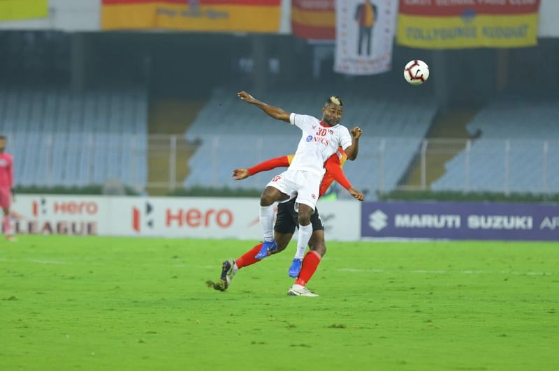Ansumana Kromah could have scored against his former club East Bengal had he waited a second longer