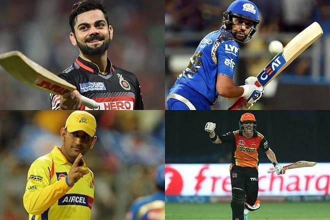 Virat Kohli And Rohit Sharma And Dhoni And David Warner