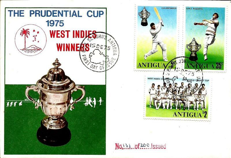 Stamps issued by Antigua to commemorate West Indies