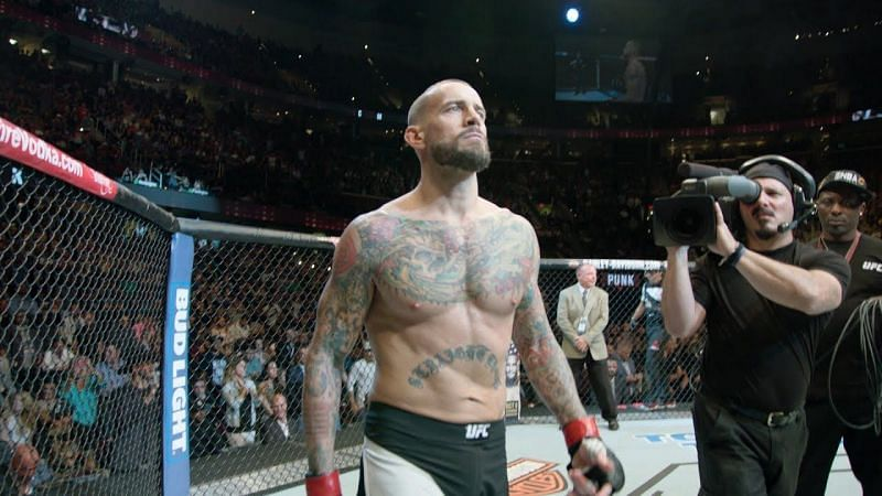 CM Punk in the octagon