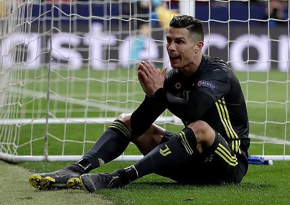 Ronaldo was on the losing side against Atletico Madrid