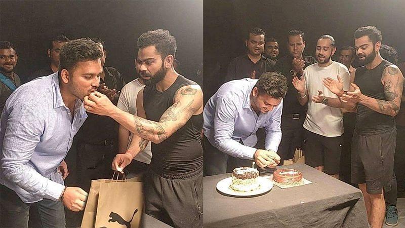 virat kohli celebrate faizal khan birthday