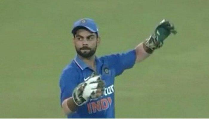 Virat kohli as wicket keeper