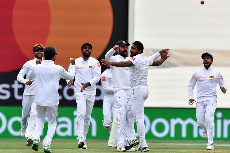 Sri lanka wicket taking moment