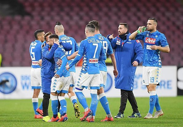 SSC Napoli needs another win if they are to keep any slender hopes of their title challenge alive.