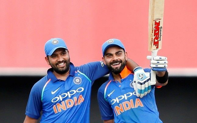 Kohli and Rohit includes most time 125+ runs scored