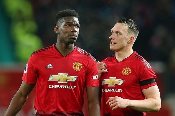 Jones and Paul Pogba set up United