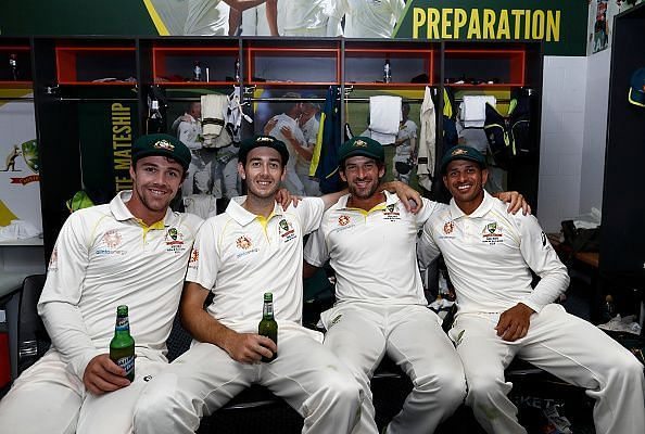 Australian players after the match