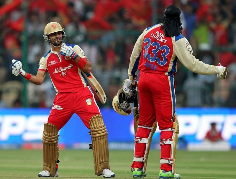 Kohli and Gayle have 10 IPL centuries between them