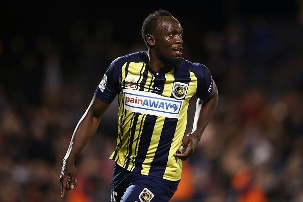 Bolt played football at the professional level after retiring from athletics
