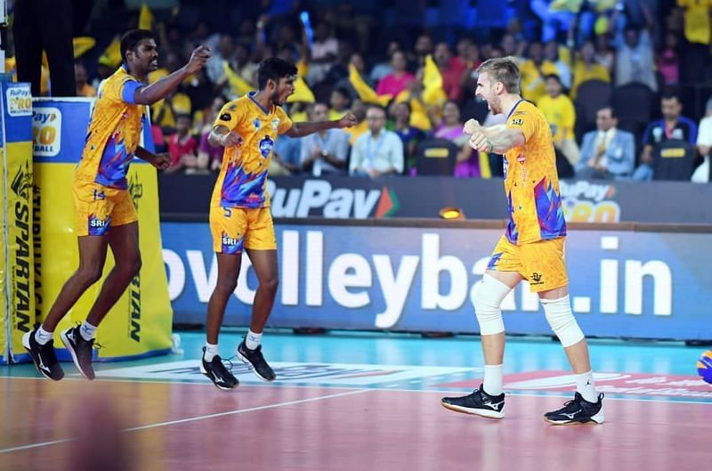 Rudy Verhoeff (right) was the key man for the Chennai Spartans yet again