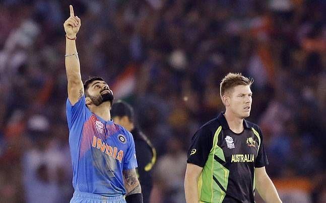 Virat Kohli against Australia in 2016 WT20