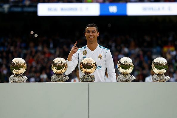 Ronaldo won every individual and team honour with both Manchester United and Real Madrid