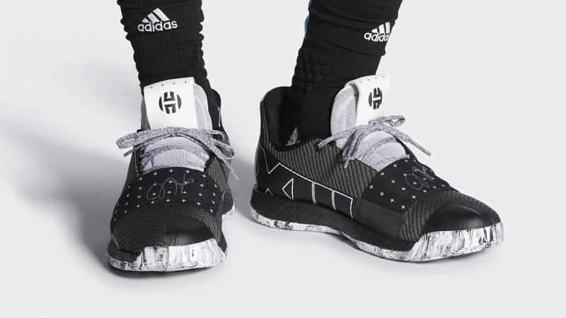 Adidas Harden Vol 3 (Core Black), the signature shoe from this season