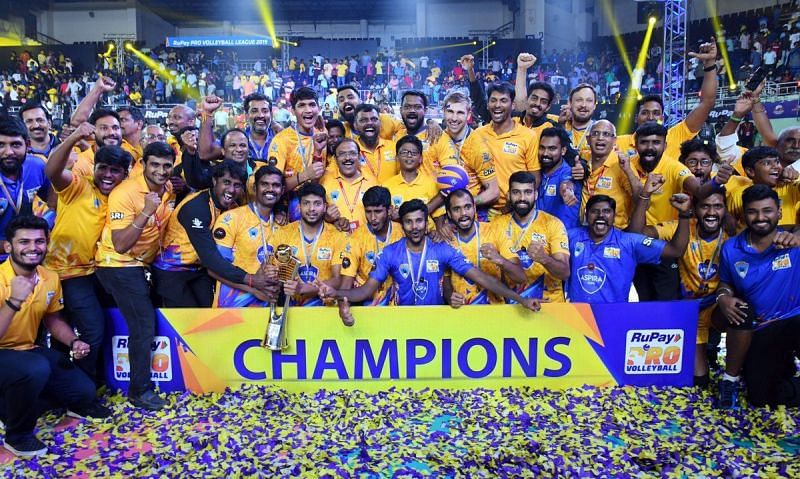 Victorious Chennai Spartans Team