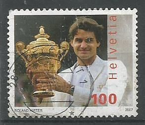 STAMP ON FEDERER WHO IS AIMING FOR HIS 100TH CAREER TITLE AT 2019 DUBAI TENNIS CHAMPIONSHIPS