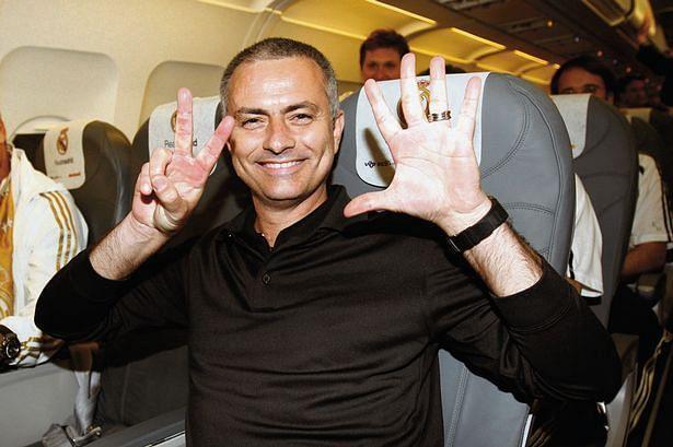 Jose Mourinho celebrates a win.