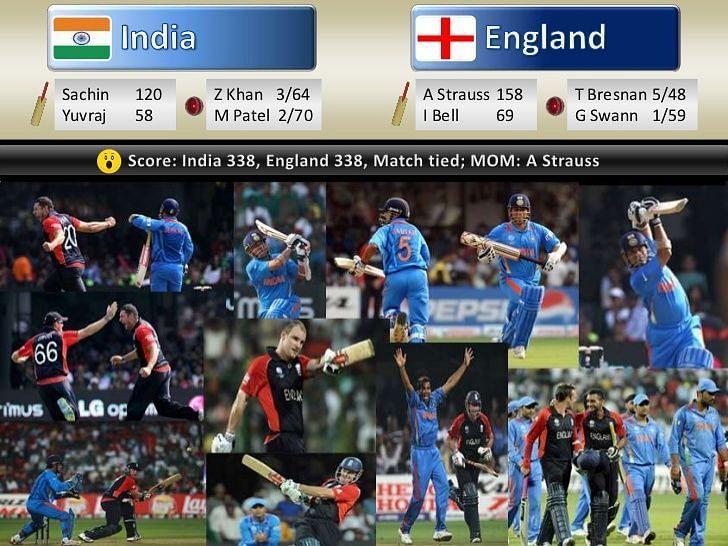 India Vs England League Match - World Cub 2011