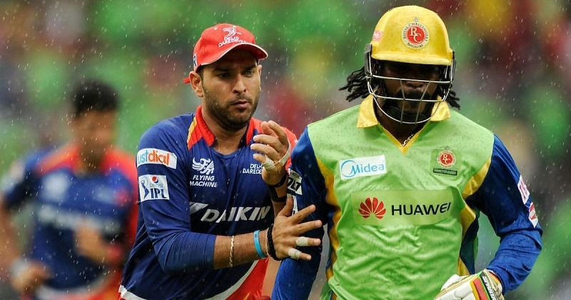 Yuvaraj Singh And Chrish Gayle