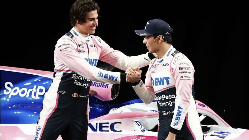 Lance Stroll and Sergio Perez.
