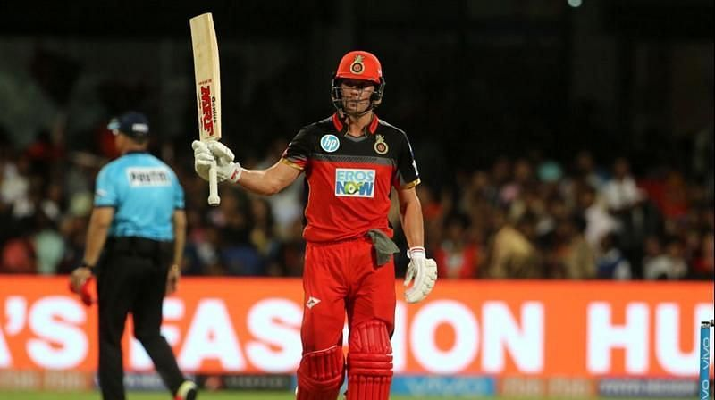 de Villiers has scored 2 centuries playing for RCB