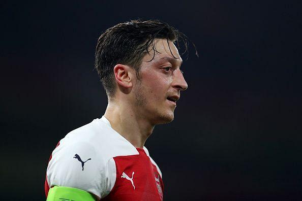 Mesut Ozil started for Arsenal against BATE Borisov