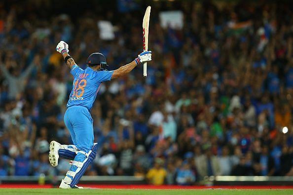 Virat Kohli scored 61* runs in sydney