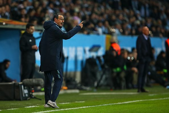Maurizio Sarri made five changes to the side that was brushed aside by Manchester City