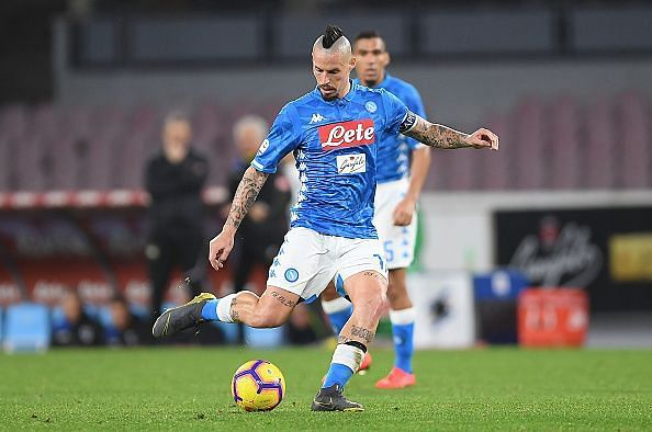 SSC Napoli is expected to be without their all-time appearance as well leading goal scorer Marek Hamsik