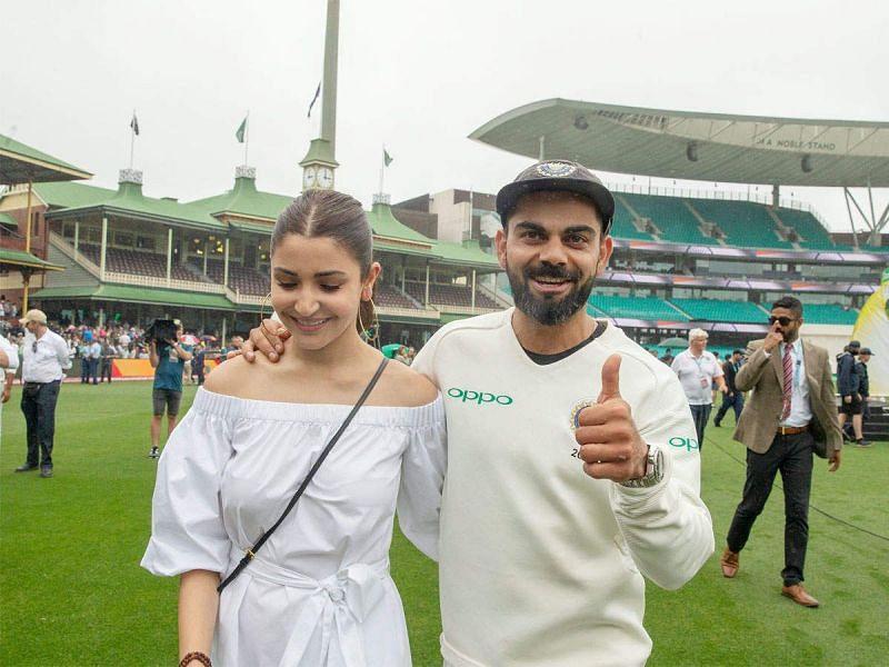 Virat Kohli with wife Anushka Sharma at the SCG