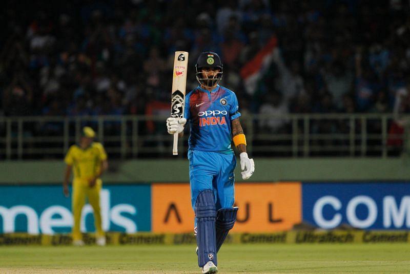 KL Rahul Hits the Half century