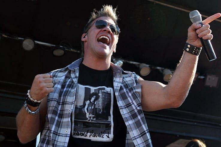 Chris Jericho performing in front of a crowd