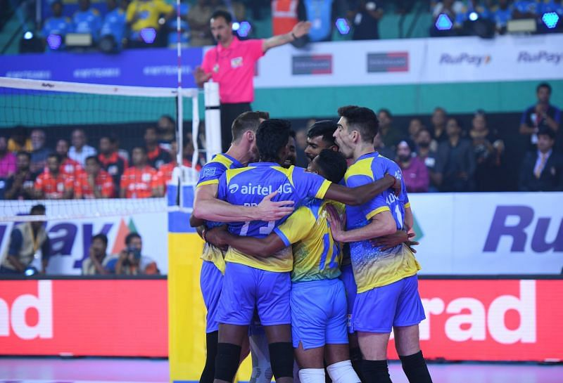 Kochi Blue Spikers start the league with a dominating win over U Mumba Volley