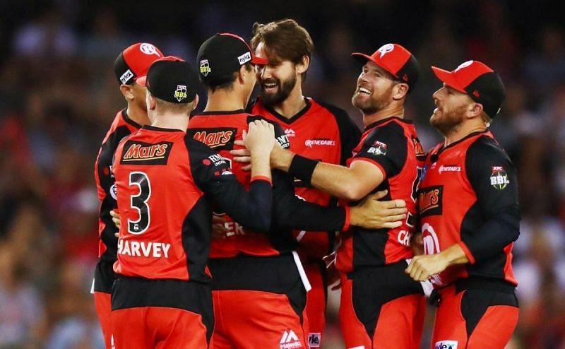 Melbourne Renegades Celebrating theri Victory