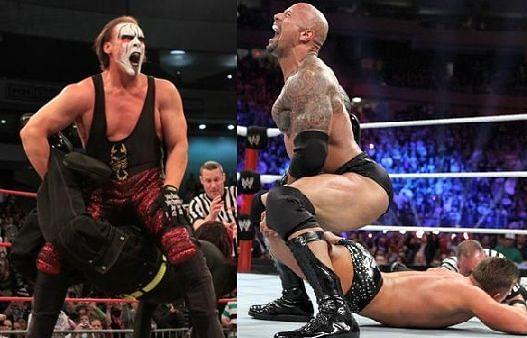 Sting and Rock have used the move regularly in their respective matches