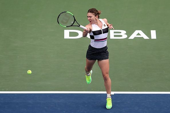 Simona Halep had a challenge on her hands but came out winning at the Dubai Duty Free Tennis Championships