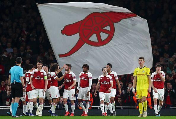 Arsenal swatted BATE Borisov aside