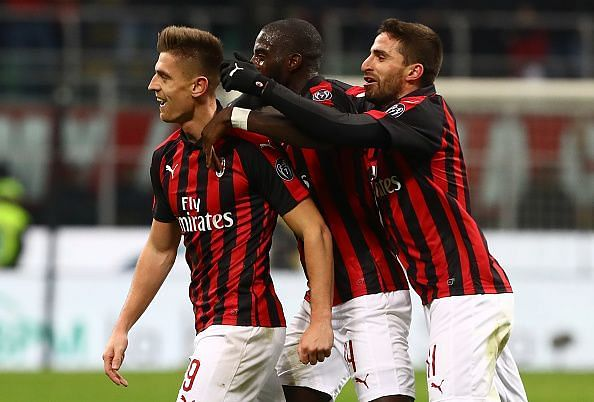 AC Milan will need to win to get back into the top 4 of the Serie A.