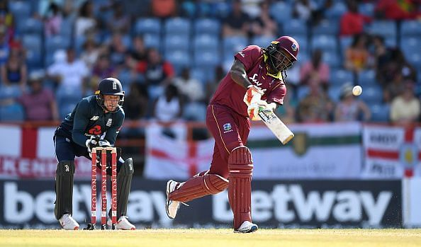 Chris Gayle in action - West Indies v England - 4th ODI