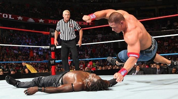 John Cena and R-Truth faced each other for the WWE Title