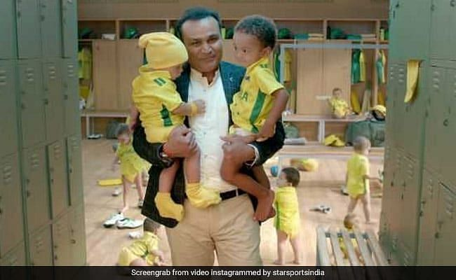 Virender Sehwag in an advertisement ahead of the India-Australia series