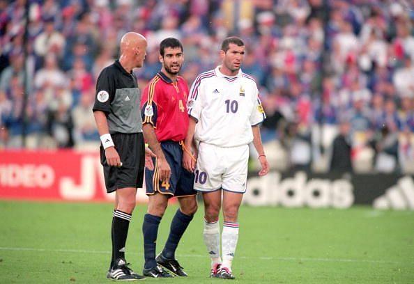 Zinedine Zidane, Josep Guardiola, Pierluigi Collina