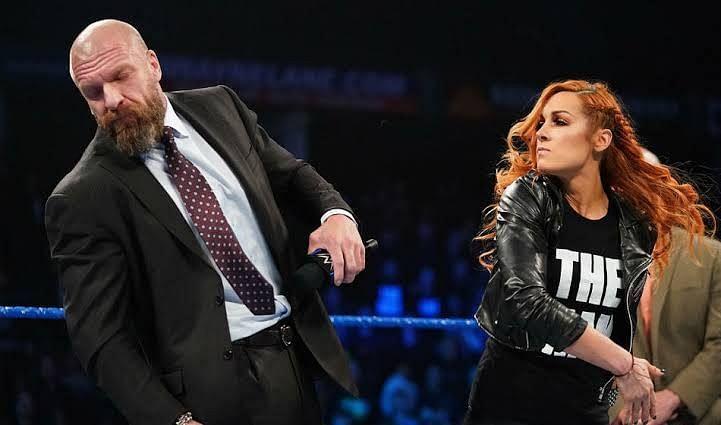 Becky Slapped Triple-H on SmackDown Live