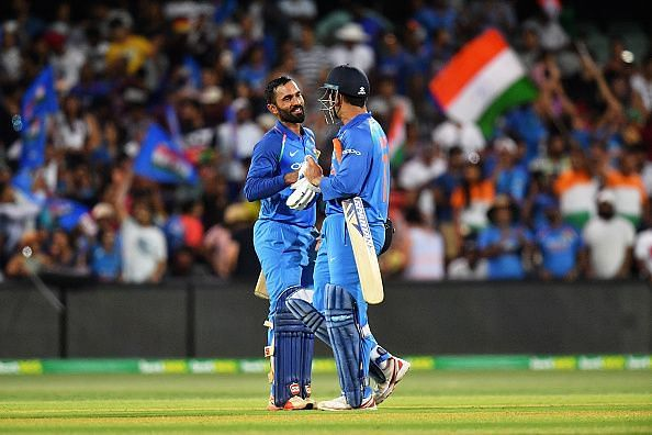 Dinesh Karthik played an impressive cameo at Adelaide to help India win